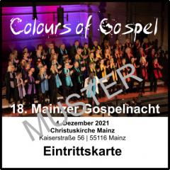 Eintrittskarte Gospelnacht 2018 - ermäßigt